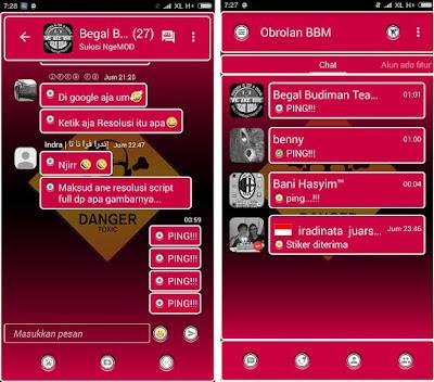 BBM versi 2.10.0.35 MOD Apk