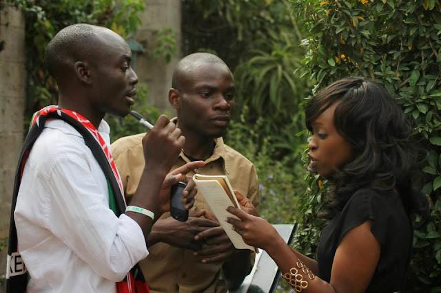 Eric Onyango, Chris Mukasa and faith Muturi. A Poet's Heart: Be Faithful To Your Dreams!