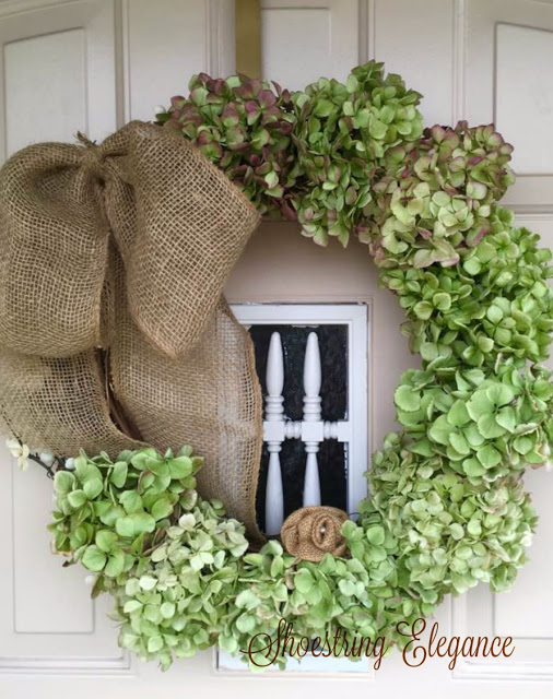 DIY Dried Hydrangea Wreath that looks fresh