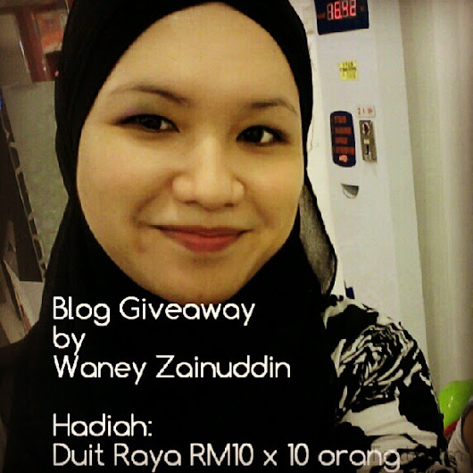 Giveaway by Waney Zainuddin - Duit Raya 2013