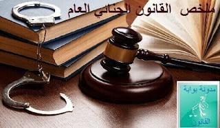 ملخص  القانون الجنائي العام PDF لتفوق في الإمتحانات  والمباريات