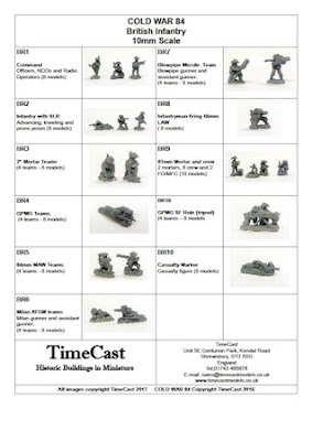 10mm Cold War British Infantry from TimeCast