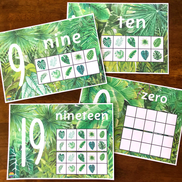 Tropical Number Posters 0-20 for Classroom Display | you clever monkey