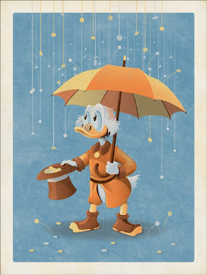 Mondo Ducktales Screen Print Series  - Scrooge McDuck  Variant by DKNG