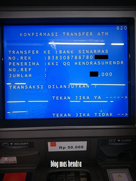 Layar Monitor ATM - Blog Mas Hendra