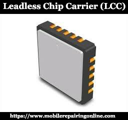 LCC chip carrier of several kinds of surface-mount technology. square shape package with four edges Connections