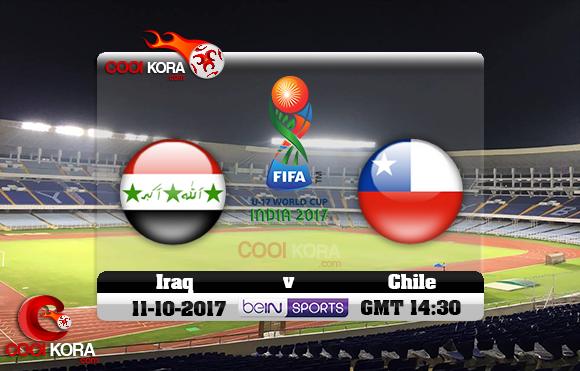 مشاهدة مباراة العراق وتشيلي اليوم 11-10-2017 كأس العالم تحت 17 سنة