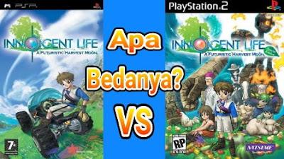 Perbedaan Harvest Moon Innocent Life PS dan PS 2