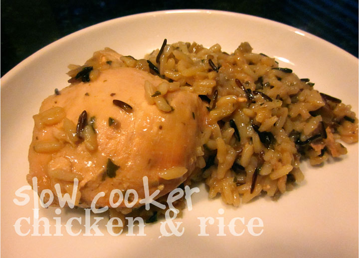 Creatively Domestic: Slow Cooker Chicken and Rice