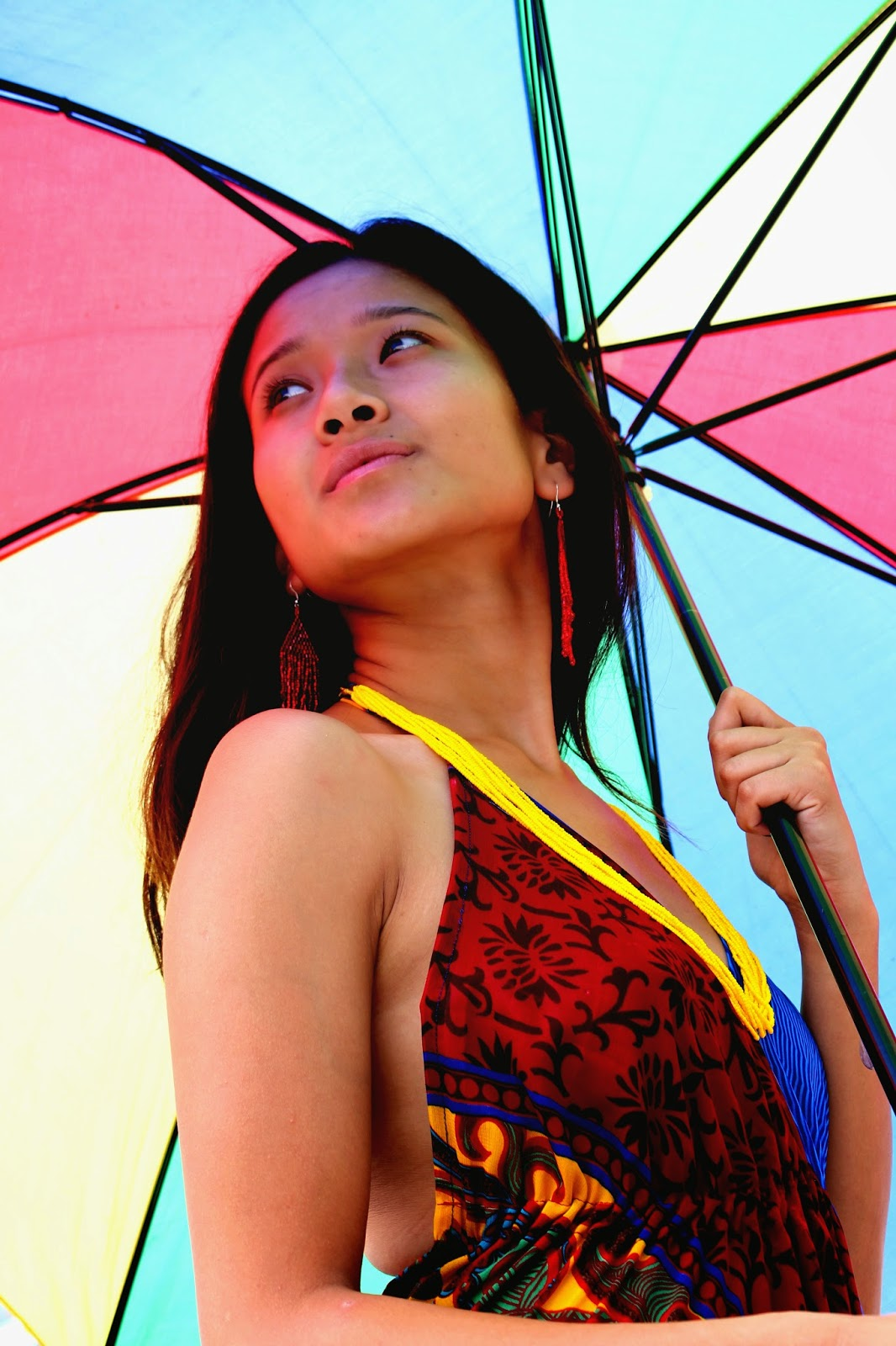 Umbrella, Tibetan model, boho, fashion
