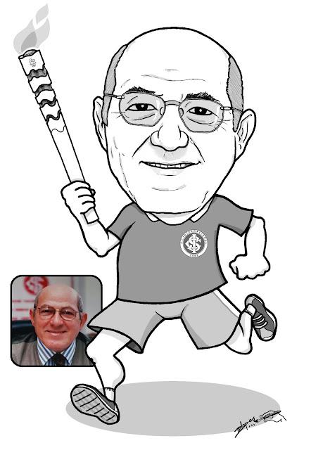 Caricaturas M2LOPES e a tocha olímpica