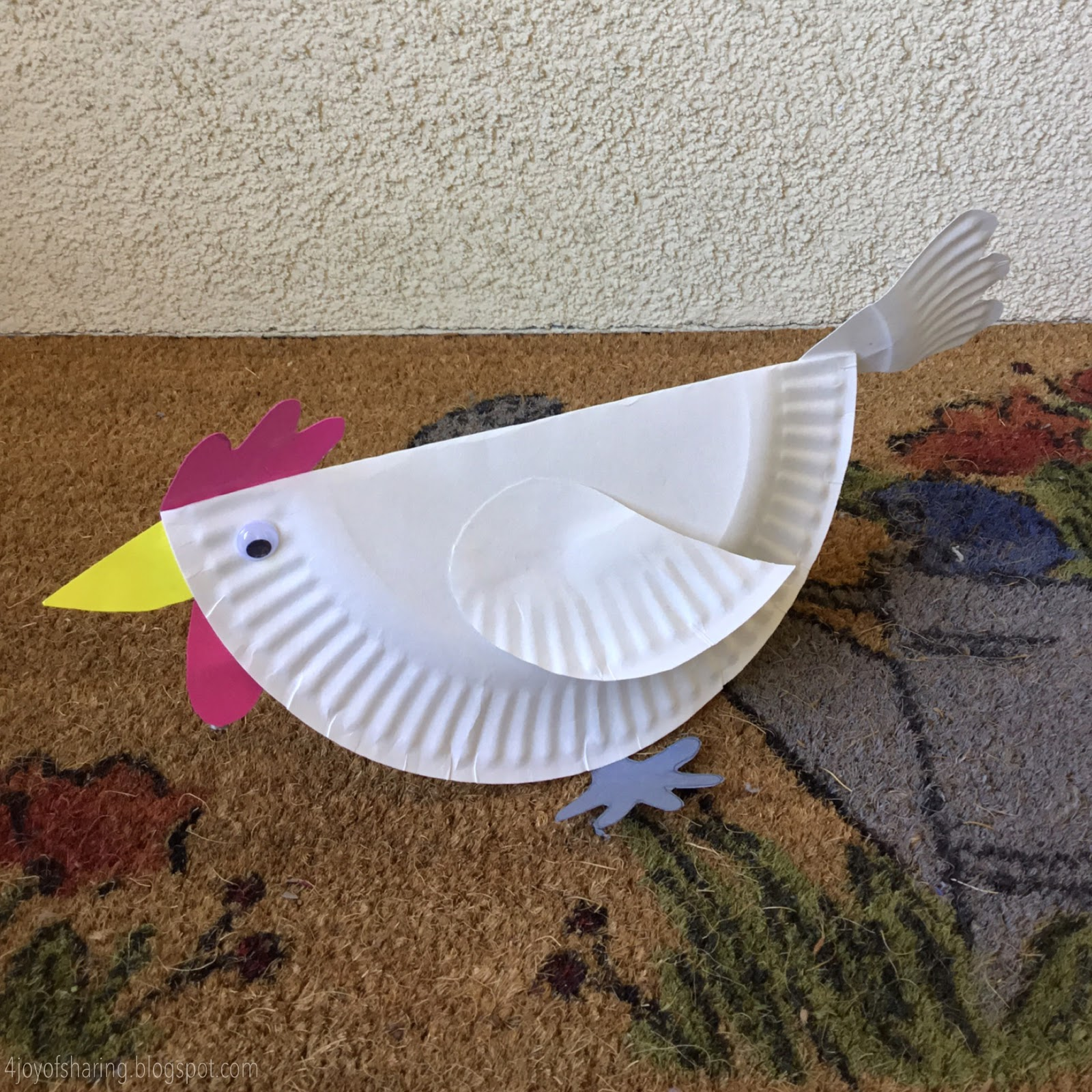 Paper Plate Chicken Craft - Cock a doodle doo 🐓 - The Joy ...