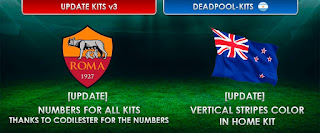 Kits Update v3 As Roma and New Zealand Pes 2013 By Deadpool