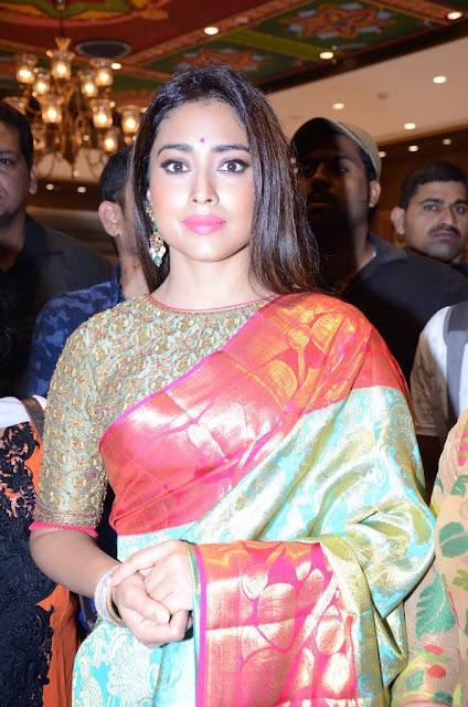 Shriya Saran Stills At VRK Silks Showroom Launch At Secunderabad