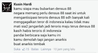 suara netizen anti pembubaran Densus 88
