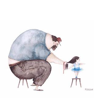 Snezhana SOOSH dessin amour papa fille parent drôle émouvant