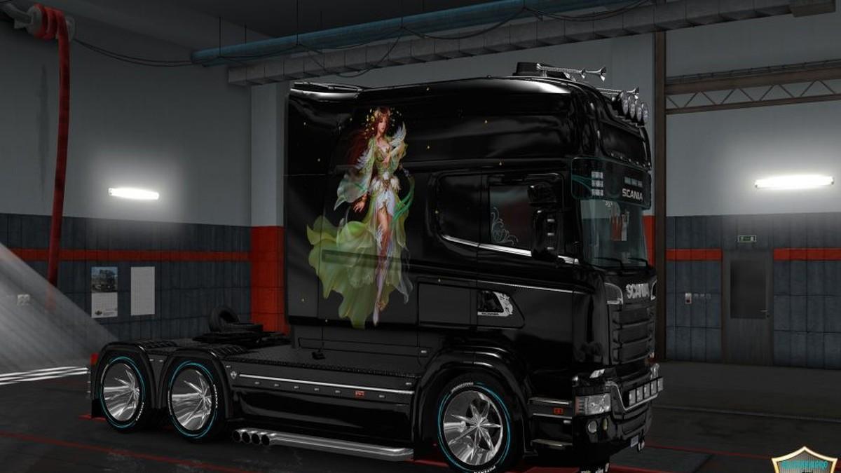 Scania RJL Girl v3 Paint job