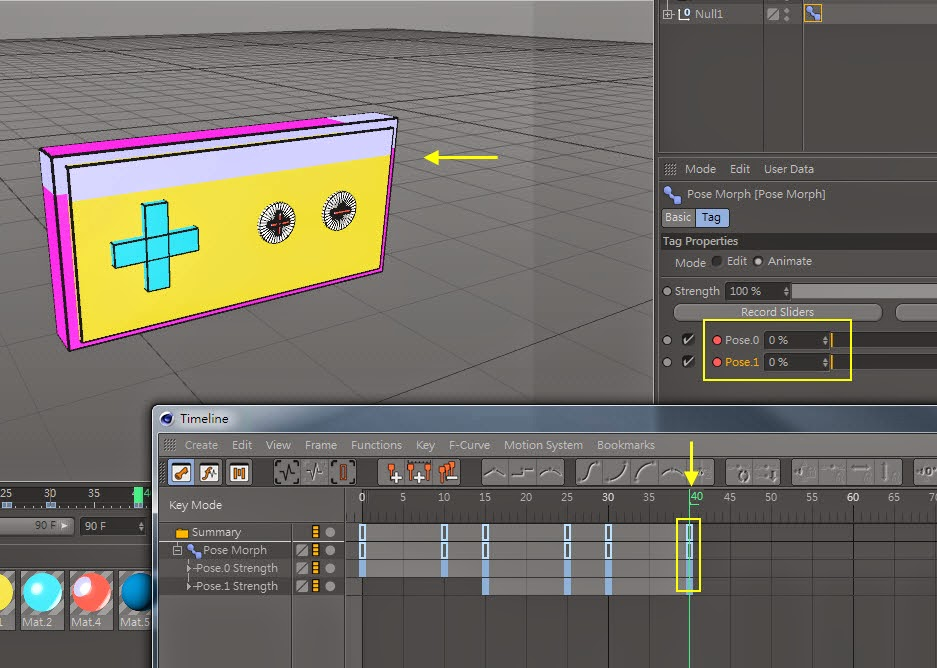 Transform Shape in C4D 14.6