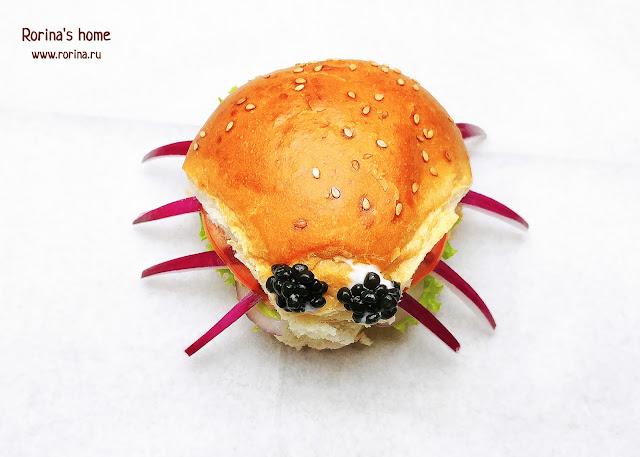 Сэндвич паук на Хэллоуин