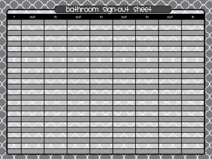 Classroom Sign Out Sheet Sign-In And Out Sheet Sample Sign-In Sheet
