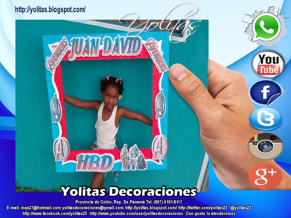 Yolitas Decoraciones: Divertidos marcos para selfis Panamá