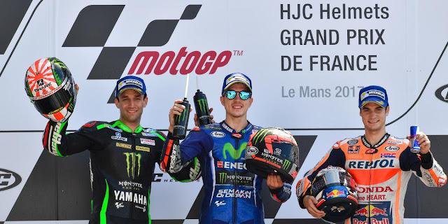 Juara MotoGP Prancis 2017 #1-Vinales #Zarco #Dani Pedrosa