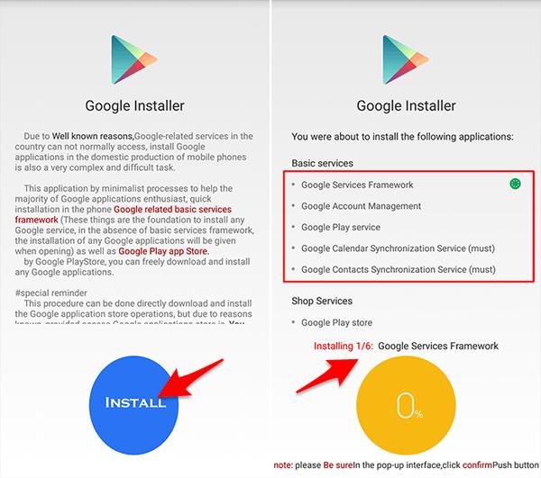 Install Semua Aplikasi Pendukung Google Installer