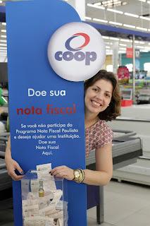 Coop coleta Nota Fiscal Paulista sem indicação de CPF para entidades beneficentes