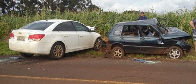 Acidente grave na rodovia Nelson Patrassi, em Ariranha do Ivaí