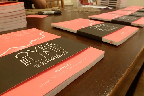 Over The Line: An Introduction to Poetry Comics, edited by Chrissy Williams and Tom Humberstone, is out now and available via our site. Bookshops should be able to order it in from Thursday. One of our two launch events has been and gone - wine, short readings and talks were laid on at the ...