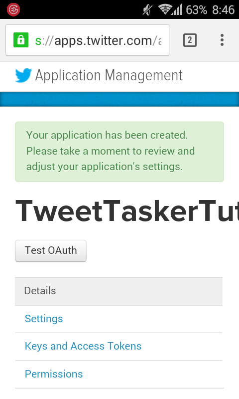 Tweet Tasker Help & Guides: Creating Twitter Api Keys for