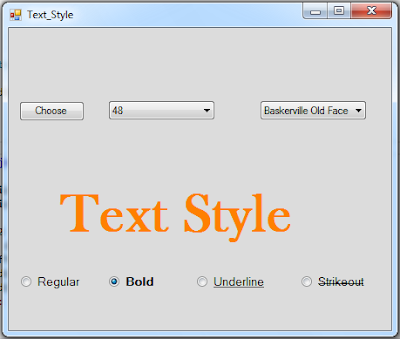 c# text font style