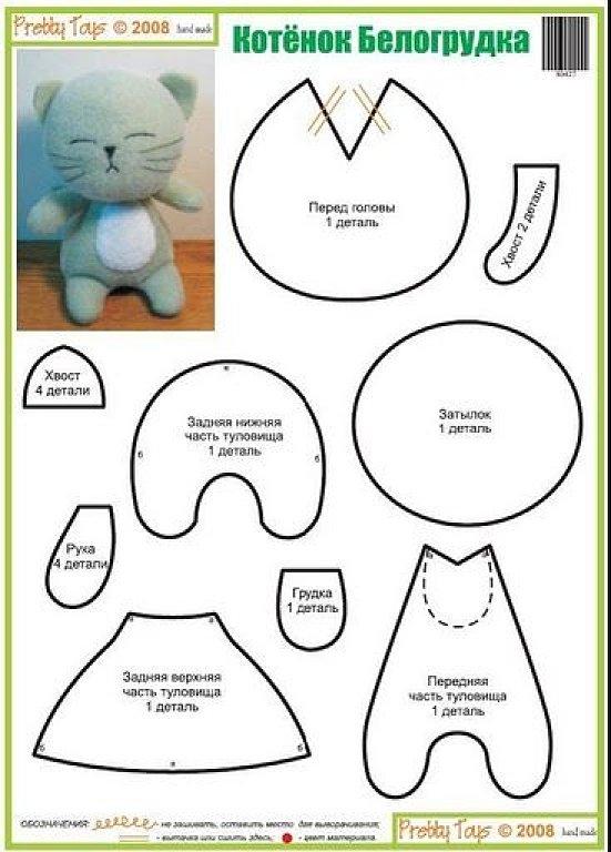 El Chanchito O Verde ManualidadesPatrones Hacer Gatos Moldes Para HIWeEYbD29