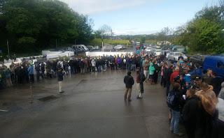 The queue grew a bit