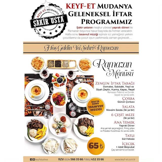 keyf et bursa mudanya iftar yerleri mudanya iftar mekanları 2019 mudanya iftar menüleri