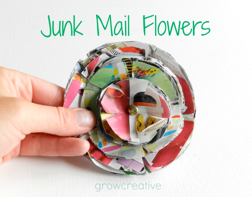 How to make flowers out of Junk Mail