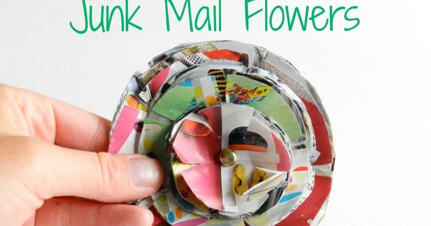 Junk Mail Flowers Tutorial