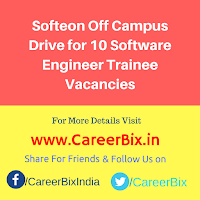 Softeon Off Campus Drive for 10 Software Engineer Trainee Vacancies