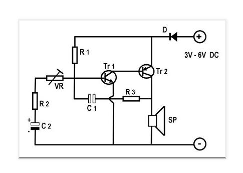 rangkaian sirine sederhana 3 volt