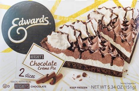 Edwards Hersheys Chocolate Cream Pie Slices