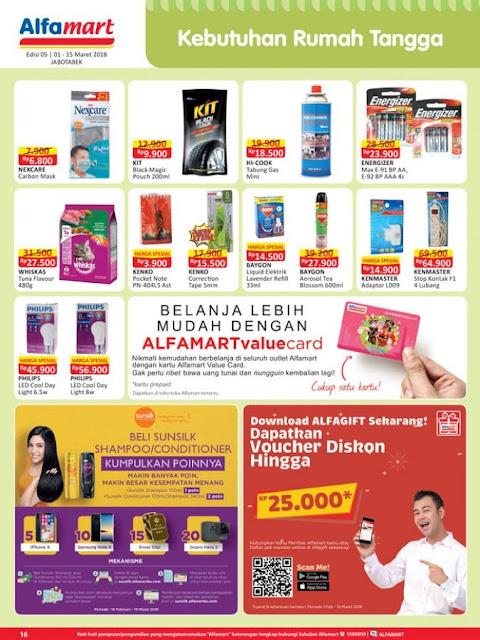 Katalog ALFAMART Promo ALFAMART Terbaru Periode 01 - 15 Maret 2018