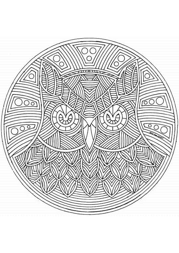 Mandala Kleurplaten Inkleuren.Kleuren Of Tanglen Mandala S Tangelen Inkleuren Colorplane