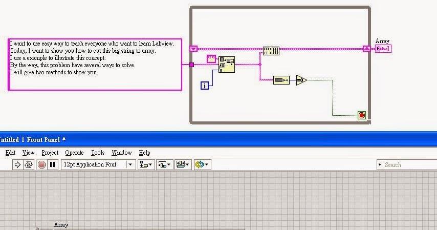 LabVIEW: [技巧]多行字串變成矩陣(mult-line string to array)