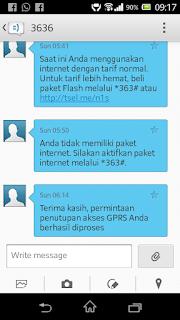 Cara mematikan GPRS telkomsel