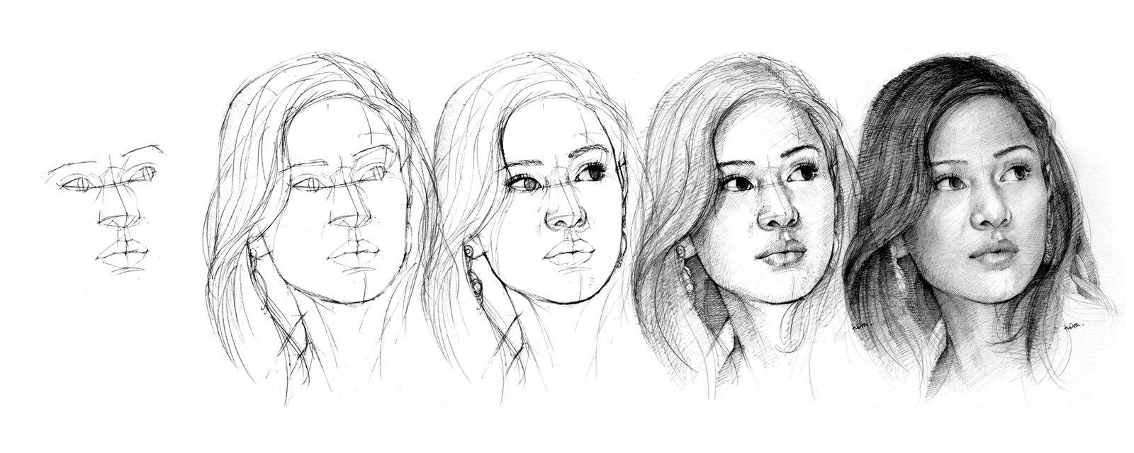 Drawing is my life: Contoh Menggambar orang dengan arsiran ...