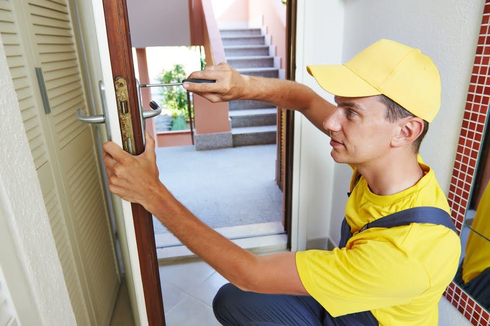 How can we collaborate with a locksmith to keep our premises safe? 2