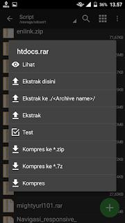 elstrak file rar/zip/7z pakai Zarchiver