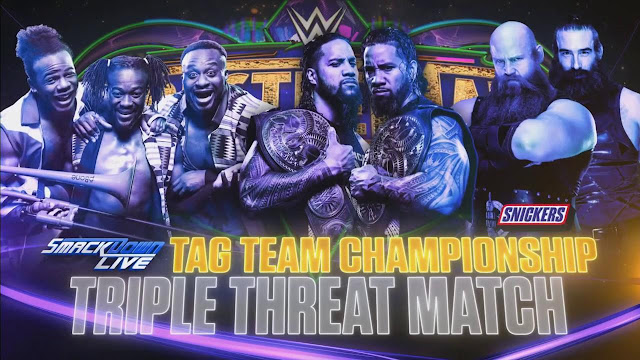 The New Day vs The Usos vs The Bludging Brothers for Tag team Championship