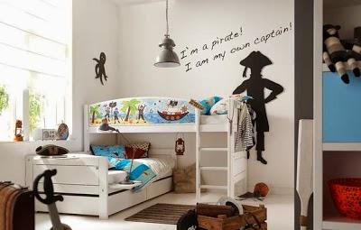 dormitorio temático de piratas