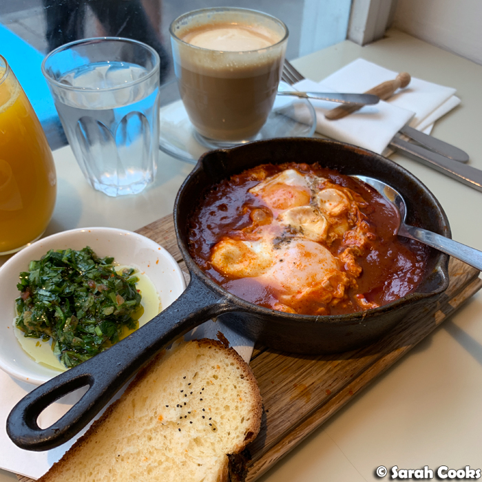 Shakshuka at Honey & Co